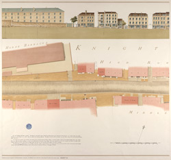 Knightsbridge showing the Horse Barracks Sheet 3-A